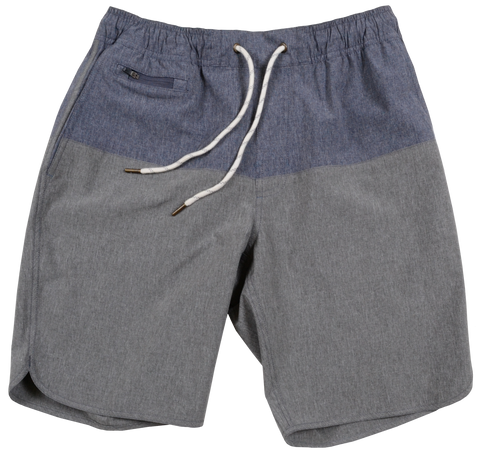 Color Block Windjammer <br>Blue Heather/Grey