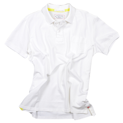 Retro Stretch Polo<br>White
