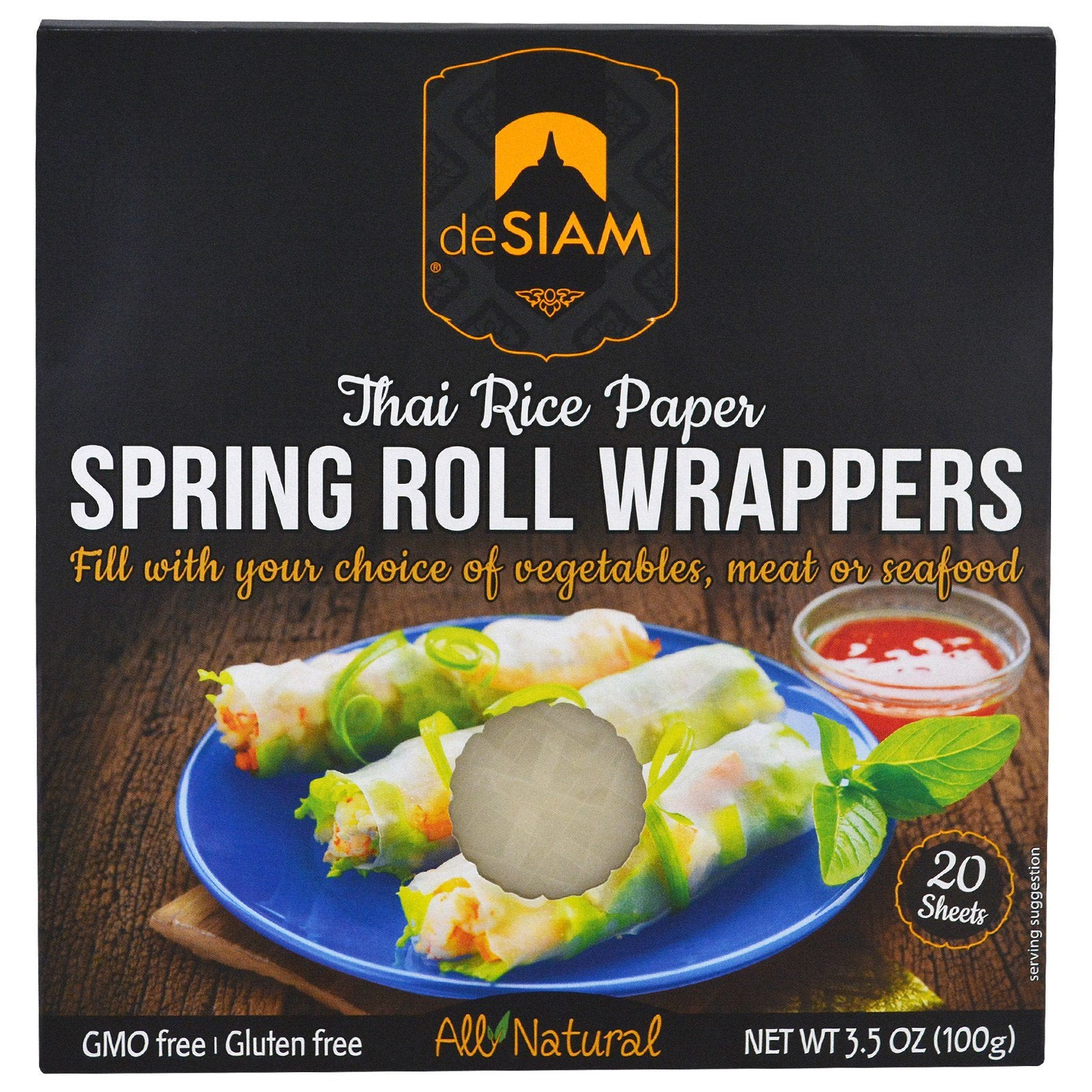 Thai Rice Paper Spring Roll Wrappers