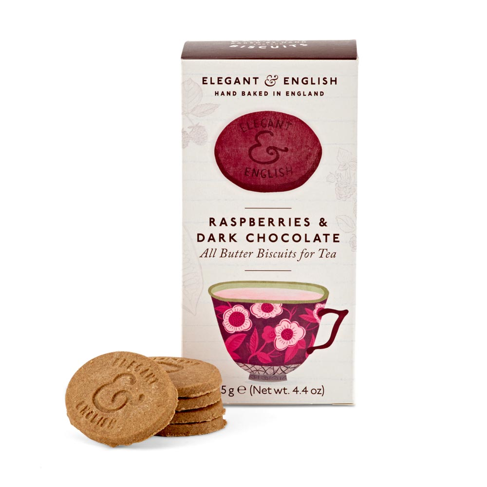 Raspberries & Dark Chocolate All-Butter Biscuits for Tea