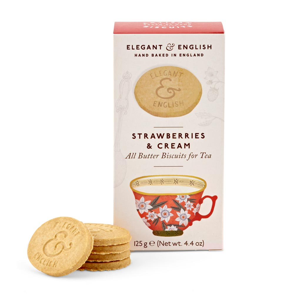 Strawberries & Cream All-Butter Biscuits for Tea
