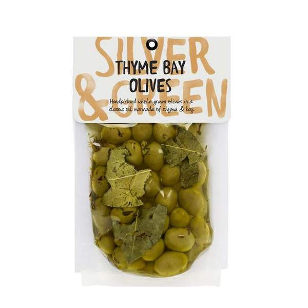 Silver & Green: Thyme Bay Green Olives
