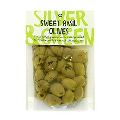 Silver & Green: Sweet Basil Green Olives
