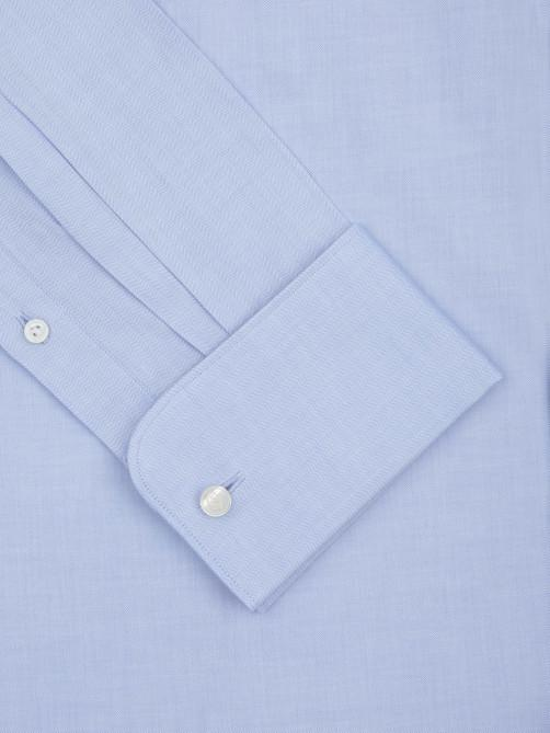 BLUE HERRINGBONE TAILORED FIT SHIRT