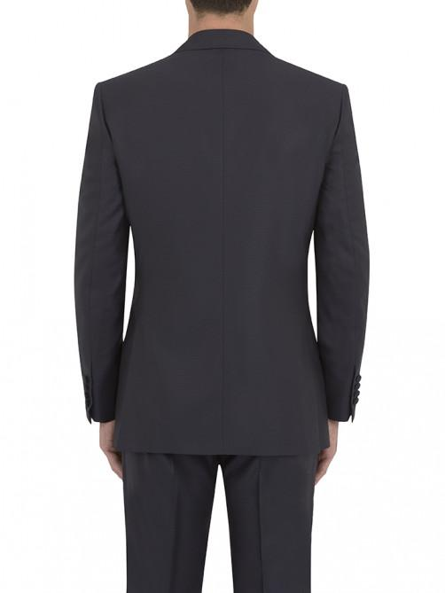 NAVY JACQUARD WEAVE DINNER SUIT