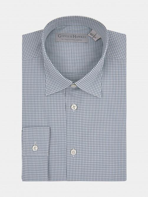GREEN COTTON CHECKED CASUAL SHIRT