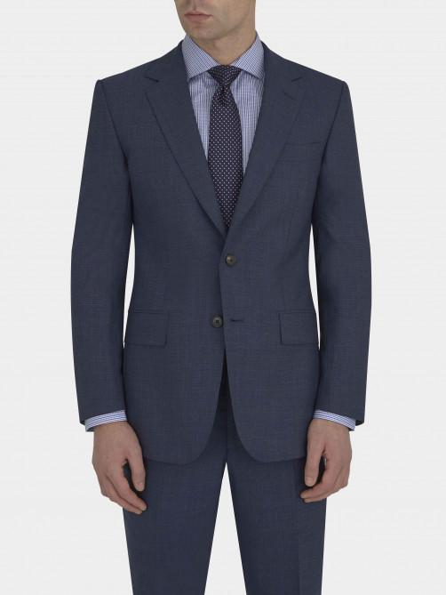 RAF BLUE LIGHTWEIGHT SHARKSKIN WOOL SUIT