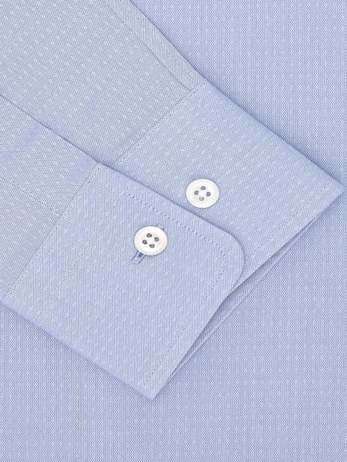 SKY BLUE FINE COTTON JACQUARD SHIRT