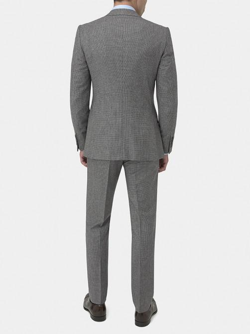 GREY VIRGIN WOOL HOUNDSTOOTH SUIT