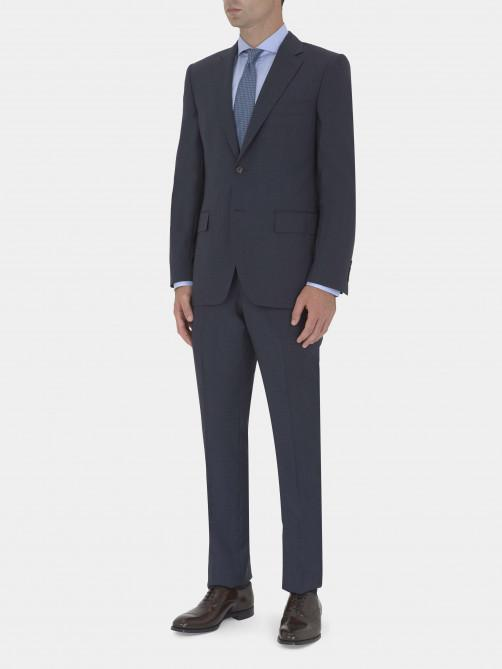 NAVY VIRGIN WOOL PUPPYTOOTH SUIT