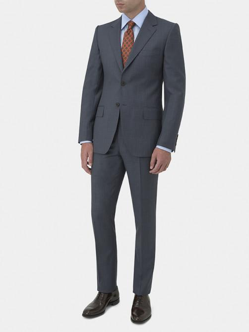 WOOL SHARKSKIN SUIT