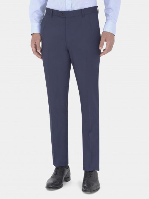 NAVY VIRGIN WOOL SUIT TROUSERS