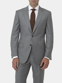 MID-GREY HOUNDSTOOTH WOOL SUIT