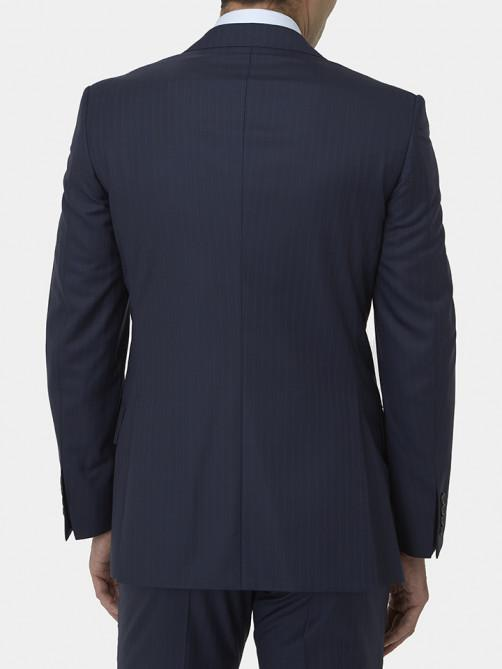 NAVY SHADOW STRIPE WOOL SUIT