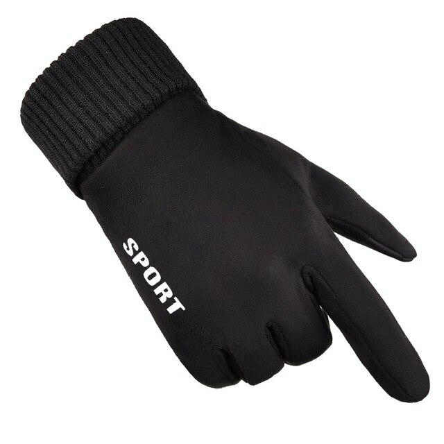 New Suede Winter men Sports Gloves