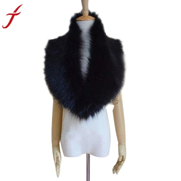 Warm Winter Hairy Women Faux Fur Collar Scarf
