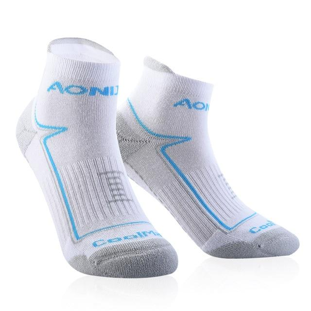Running Athletic Performance Tab Training Cushion Quarter Compression Socks