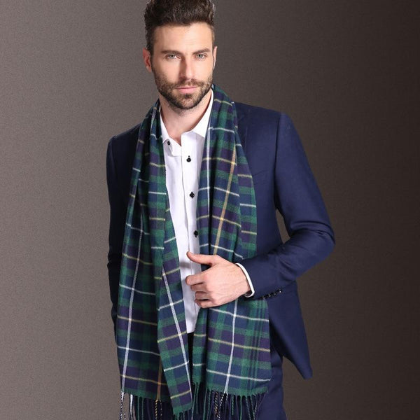 Winter Warm Tartan Scarves for Men
