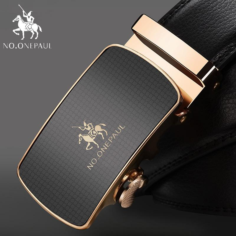 NO.ONEPAUL Top Brand Designer Belt Man Cow For Men Automatic Buckle Strap Fashion Waist Male ceinture femme Genuine Leather Belt
