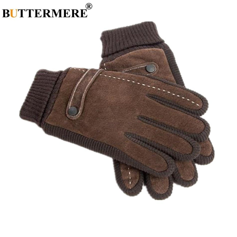 Pigskin Men Winter Gloves