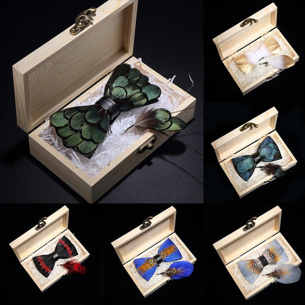 wooden box set high quality men's bow tie