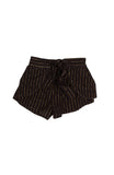 Eclipse Metallic Stripe Shorts - Black