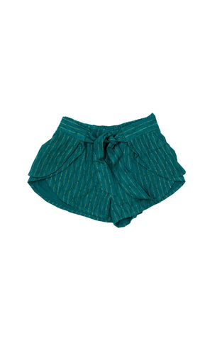 Eclipse Metallic Stripe Shorts - Sage