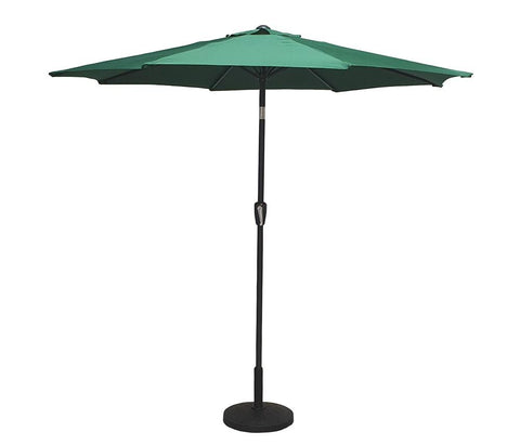 2.5m Round Table Parasol With Green Canopy - PARA0343 - Modern Rattan
