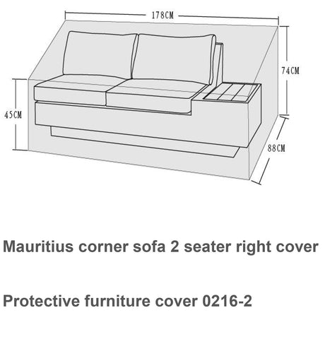 Cover for Mauritius Daybed - COVE0216 - Modern Rattan