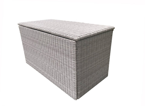 Large cushion box for SARA0260 in 8mm half round grey weave - CUSH0281 - Modern Rattan