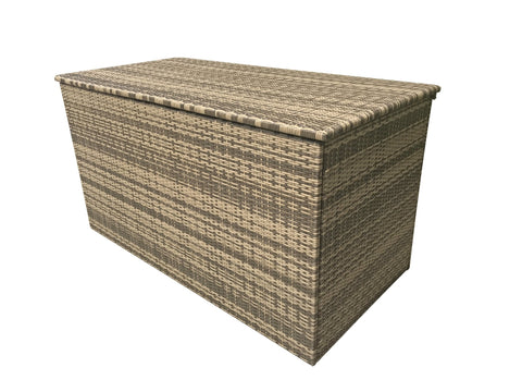 Large & Medium cushion box in 8mm flat brown/nature weave - Modern Rattan