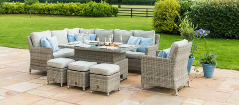 Maze Rattan - Oxford Corner Dining with R/T, I/B & Chair - Modern Rattan