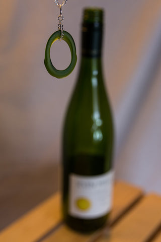Wine Bottle Angled Pendant