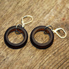 Reclaimed beer bottle earrings