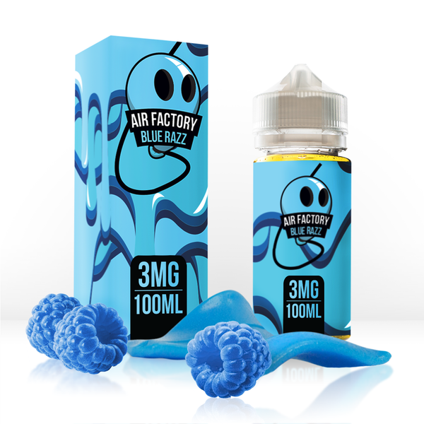 Air Factory - 100mL - Blue Razz - 00mg - Zero