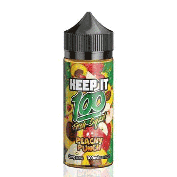 100mL - Keep it 100 -Peachy Punch - 00mg - Zero