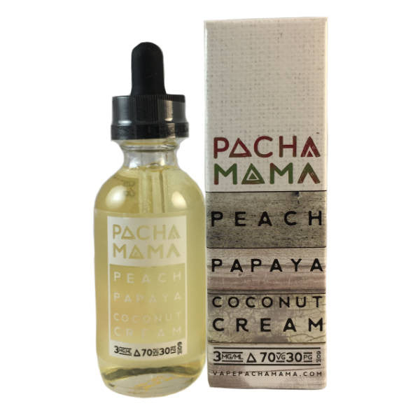 60mL - Pacha Mama - Peach Papaya Coconut Cream - 00mg - Zero