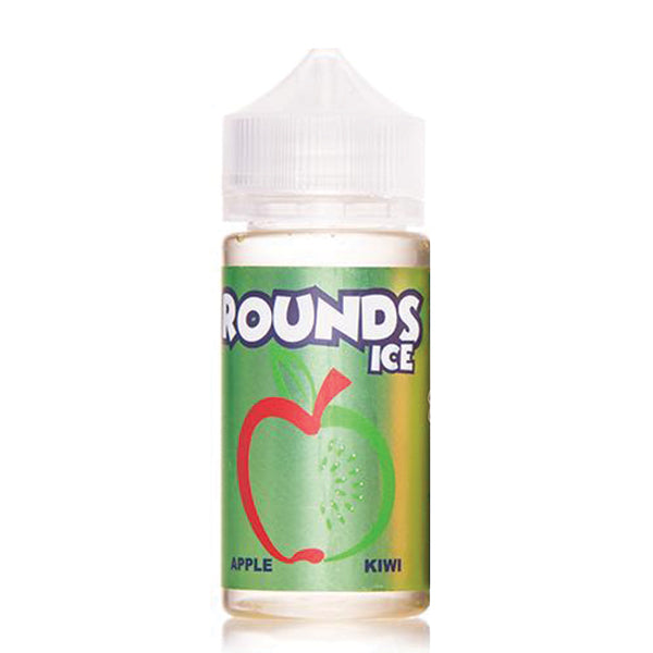 100mL Rounds - Apple Kiwi ICE - 00mg - Zero
