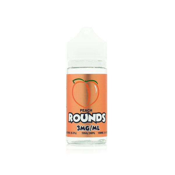 100mL Rounds - Peach - 00mg - Zero