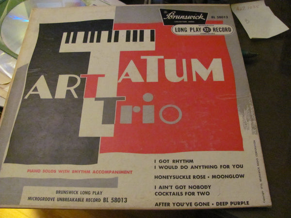 "LP -  10"" LP Art Tatum Trio on Brunswick. Free shipping in the USA."