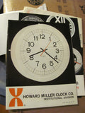 Clock: Double Sided Model 6223 Instutionall Clock Geroge Nelson Assoc for Howard Miller Co.