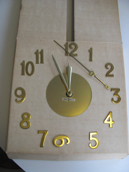 Clock: Rare, Brass, Clock In A Box. Model 6737.  George Nelson Assoc for Howard Miller  SOLD