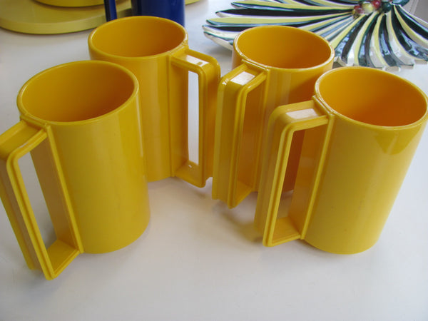 PLASTICS: 4 Mugs by Ingrid of Chicago