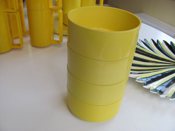 Heller Yellow Bowls x4 by Vignelli