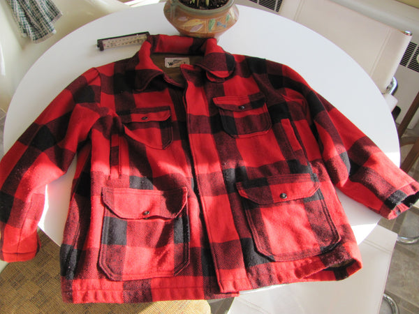Clothes: Vintage Woolrich Red Plaid Jacket 44