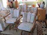 Chair: Set of 4 Rattan Armchairs by Ficks and Reed.   - SOLD