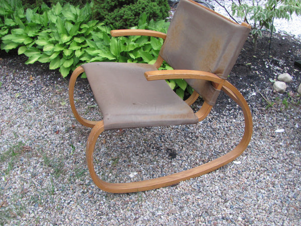 CHAIR: Oak Rocking Chair - Danish Modern   -  SOLD