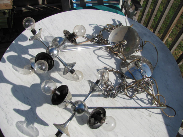 SOLD - Lighting: Lightolier Sputnik Ceiling Light