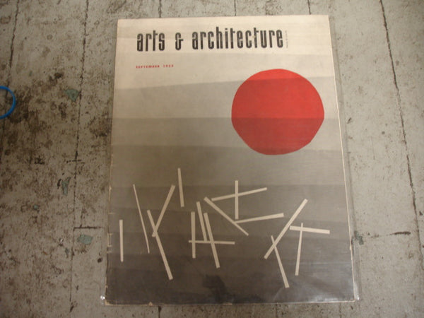 Book: Arts & Architecture, Sept 1952. Original issue.