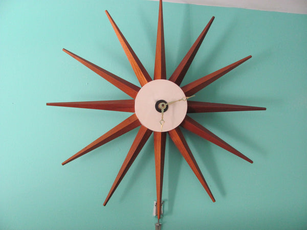 "Clock: George Nelson Spike Clock ""Modernized"" Howard Miller"